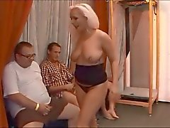 German vacker blond bukkake