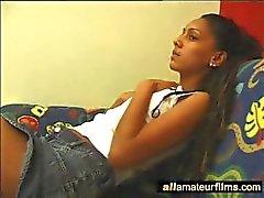 Solo adolescente bonito Ebony só para mim