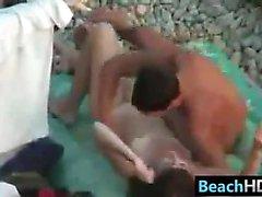 At Beach Kahrolası amatör bir People