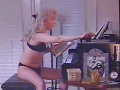 Vintage TS loves piano & cock stroking
