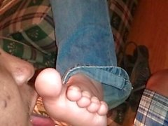 Amber's soles on the couch