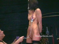 Busty Danii Blacks kinky tit tortures and extreme nipples