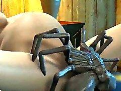 Bambina 3D farsi doppia teamed dai ragni aliene