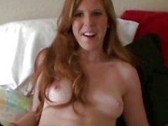 Redhead flickvän har ögonbindel kön