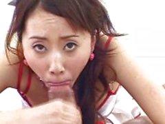 Horny l'infirmière japonaise veut ton sperme