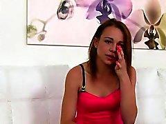Teen tittied Small convenció para el sexo en el casting