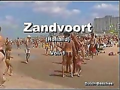 Zandvoort Dutch Plaj Üstsüz Çıplaklar Memeler 12.
