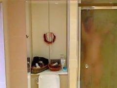 Spion Stufe Mutter im Bad Zimmer