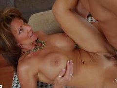 Chesty milf Deauxma riding a big dick