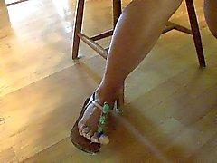 Fuss Show von Zehen Schuhe, die I gefickt.