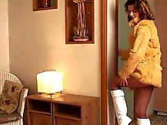 Brunette Jeune Pantyhose La masturbation