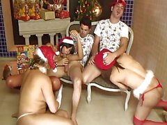 The Strange Orgy Of Chubby Shemale Santa