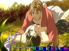 Симпатичная Hentai гей горячая трахал с его другом