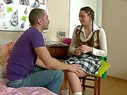 He eats her juicy sweet natural tits before Schoolgirl Faye - naked tube Pornsharing