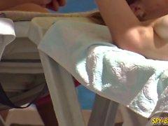 Big Boobs Üstsüz Amatör Sıcak Gençler Voyeur Plaj video