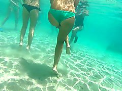 Tira de cuero adolescentes italiano GoPro subacuático