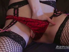 Ohashi Miku playing huge dildo - More at caribbeancom