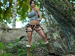 3D de a Lara de Croft jizzed de un Ogre !