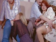 Hot vintage classic of some group sex action from the French