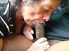 De Granny amateur manger bite black