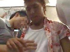 Японский Train Секс Гей