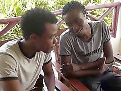 Afrikanska gays på vid stranden