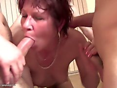 Grannies and moms fucked by many young boys