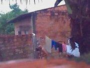 spying neighbors daughter nude in the backyard