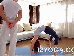 De la yoga adolescente de Tina calientes Choked la palmada Anal Creampied