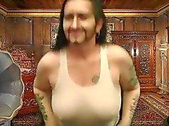 Ledar- Trent som kommer ut ur sin emballage bröst bindemedlet