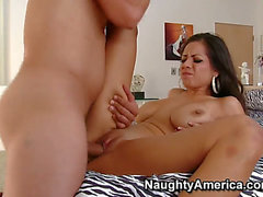 Yurizan Beltran with large knockers and trimmed cookie attacked by hard meat pole of Anthony Rosano