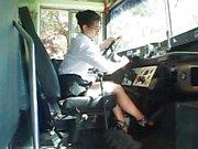 Sexig bussföraren förförande skolpojke