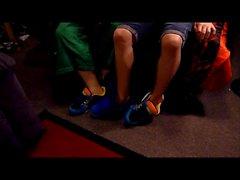 Moi et mon baskets BF de swap et de pièce de chaussure