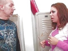 Bad girl Mason Moore fucks in the locker room