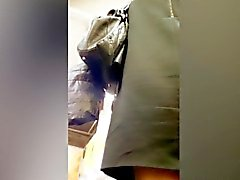 Sneaky upskirt shots in the supermarket reveal sexy shopper