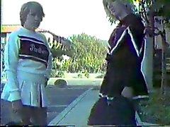 Two spanked cheerleaders