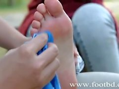 feet soles 学妹美足