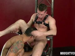 Hot anale gay rimming con facciale