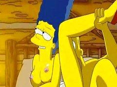 Homer älskar bultande Marges snäv rosor