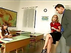 Schoolgirl Intense Sex Lessons