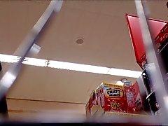 Milf Supermercati Upskirt mutandine bianche