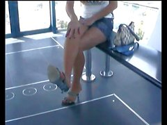Thai amateur girl in pantyhose (no panties)