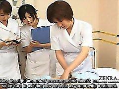 Tekstitetty CFNM japani handjob Spa ryhmään osoitus