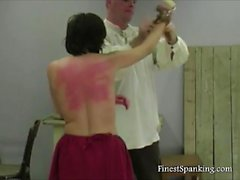 Schoolgirl Getting Spanked