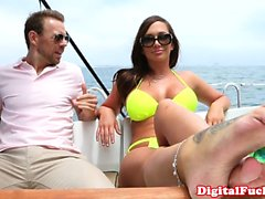 Gorgeous brunette Destiny Dixon sailing and cocksucking