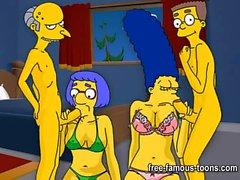 Simpson hentai hårt att sägaorgyen