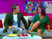 Marlene Lufen german tv host mega upskirt