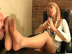 Blonde Cutie Worshipped In Pantyhose