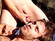 Camping Джок жадно пьет сперму