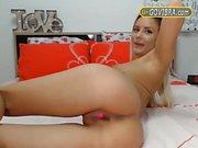 Horny Blonde Craves 4 GOVIBRA Toy Räcka ut Pussy Live Go